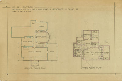Architectural plan, private residence Clyde Road, Napier