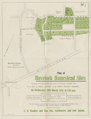 Map,  Havelock Homestead Sites