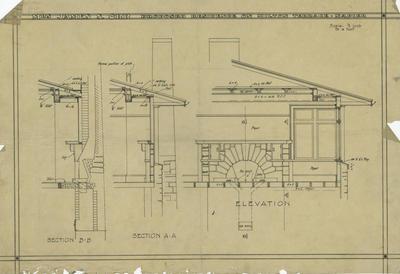 Architectural plan, Mrs James S Orr