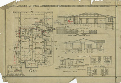 Architectural plan, Mrs James S Orr's proposed residence on Milton Terrace, Napier