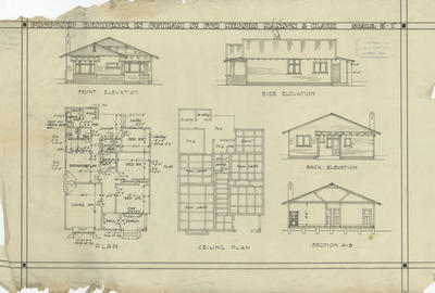 Architectural plan, Manson & Clark proposed residence in Outram Street, Napier
