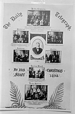 Daily Telegraph Copy - Old Telegraph Christmas poster / card
