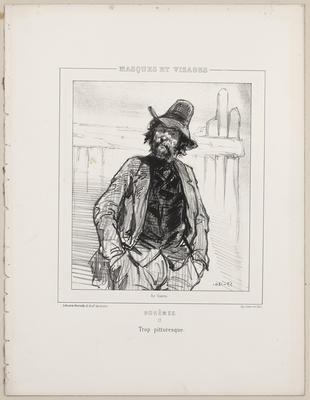 Bohêmes, 15. Trop pittoresque (from Masques et Visages)