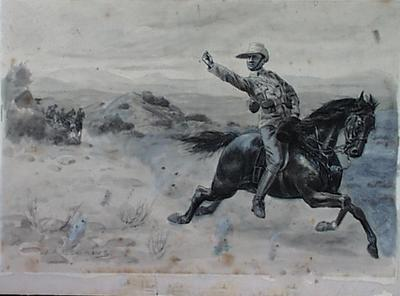 Untitled - soldier on horse