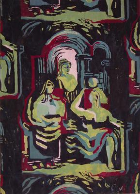 Untitled - fabric study; Mason, William; 93/55/49
