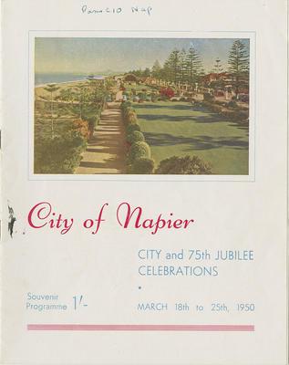 Programme, City of Napier Jubilee Celebrations