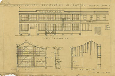 Architectural plan, W Plowman and Sons Limited of Battery Road, Napier; Hay, James Augustus Louis
