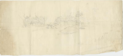 Untitled - sketch of cemetery