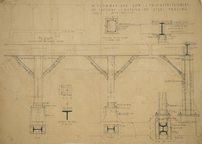 Architectural plan, W Plowman and Sons Limited of Battery Road, Napier
