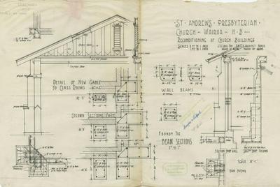 Architectural plan, St Andrew's Presbyterian Church, Wairoa