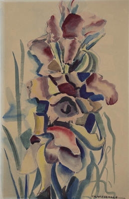 Untitled - abstract flowers; McCormack, Thomas Arthur; 70/60