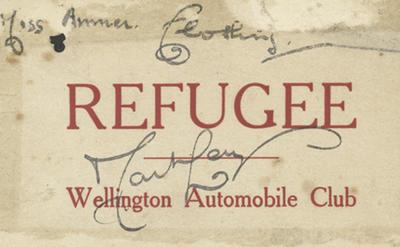 Permit, Miss Amner, 1931 Hawke's Bay earthquake