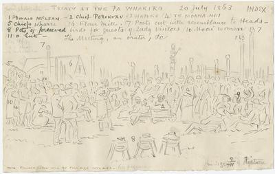 Manuscript, Treaty at Pā Whakiro (sic) Whakairo 20 July 1863; Robley, Horatio Gordon; 41/231
