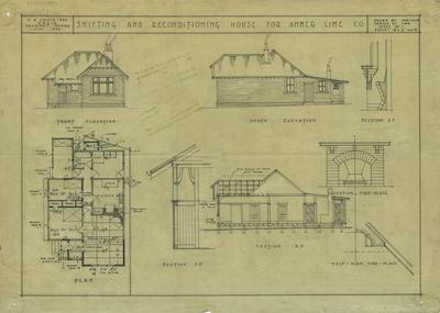 Architectural plan, Amner Lime Co, Pakipaki