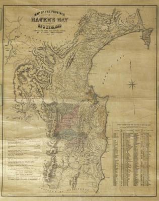 Map, Hawke's Bay, 1874; Koch, Augustus Karl Frederick