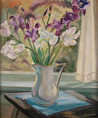 Still Life - Vase of Irises; Campbell, Janet