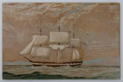The Good Old Ship Surge Bound for New Zealand, 1856 - AH Finnis, Passenger