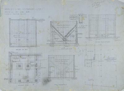 Architectural plan, Amner's Lime Company Ltd