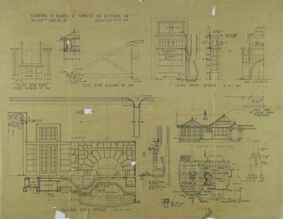 Architectural plan, residence at Flemington