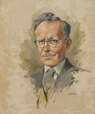Portrait of L.D. Bestall Esq. MBE FMANZ
