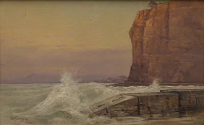 Easterly Gale, Sunrise, Napier Breakwater
