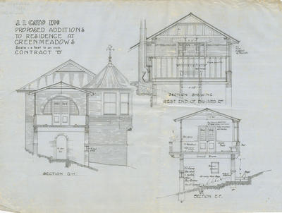 Architectural plan,Proposed additions to residence at Greenmeadows, Wharerangi