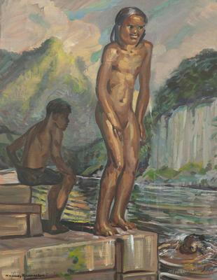 Māori Children Swimming