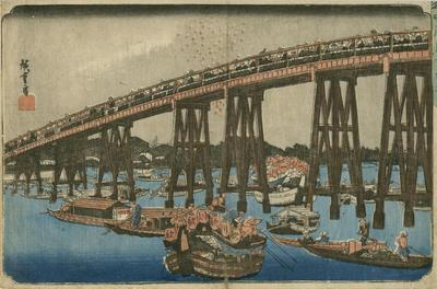 Enjoying the cool summer evening on Ryoguku Bridge