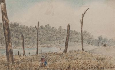 Te Aute, site of R Pharazyn's house in 1853