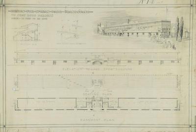 Architectural plan, McLean Park Grandstand, Napier