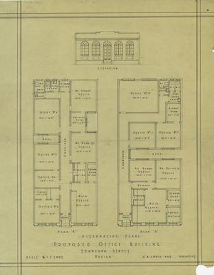 Architectural plan, Rainbow, Hobbs and Nesbitt, Tennyson Street, Napier