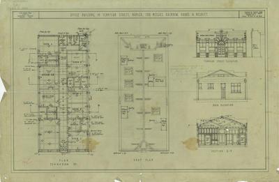 Architectural plan, Rainbow, Hobbs and Nesbitt proposed building in Tennyson Street, Napier