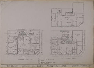 Architecture drawing, New Zealand Insurance Company building