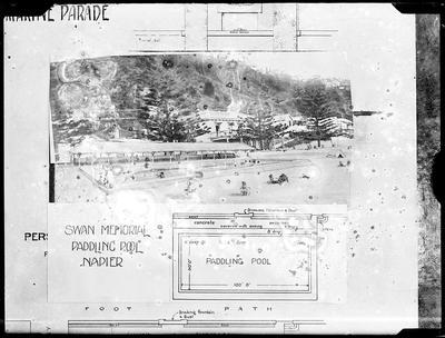 Louis Hay plan for Swan Memorial Paddling Pool