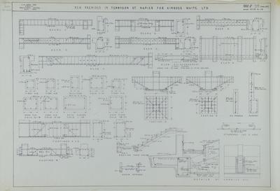 Architectural plan, Kinross White Limited, new premises, Tennyson Street; Hay, James Augustus Louis