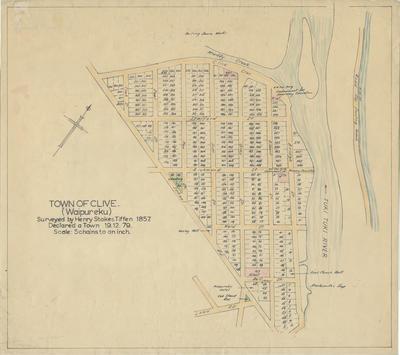 Map, Clive (Waipureku), Hawke's Bay