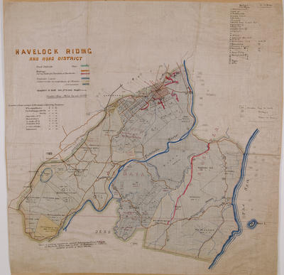Map, Havelock North Riding and Road District, Hawke's Bay