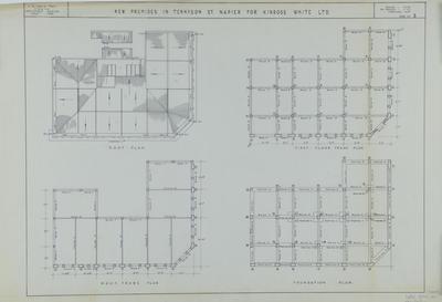 Architectural plan, Kinross White Limited new premises, Tennyson Street; Hay, James Augustus Louis