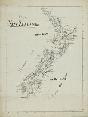 Map, New Zealand