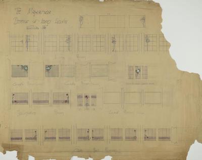 Architectural plan, Te Mahanga homestead