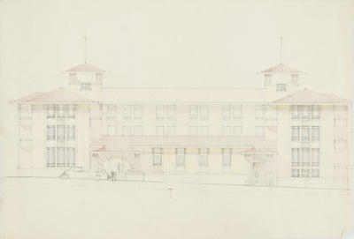 Architectural plan, proposed Albion Hotel