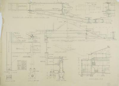 Architectural plan, proposed Napier Municipal Theatre; Hay, James Augustus Louis
