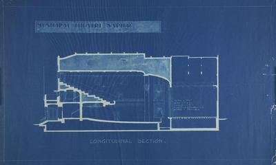 Architectural plan, proposed Napier Municipal Theatre
