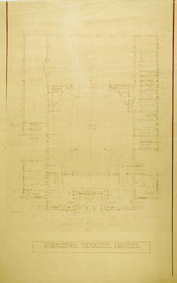 Architectural Plan, Proposed Municipal Theatre, Napier
