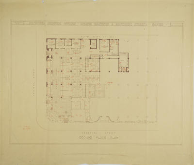 Architectural plan, proposed Shipping Offices