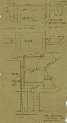 Architectural plan, Clarendon Hotel