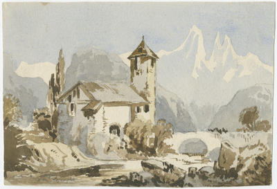 Untitled - church in a winter setting