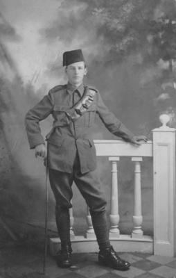 Photograph, an unidentified  soldier