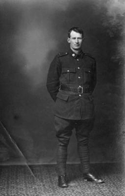 Portrait of a New Zealand soldier