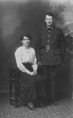 Woman with WWI Soldier